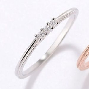 Classic Sterling Silver or Rose Gold Band Ring